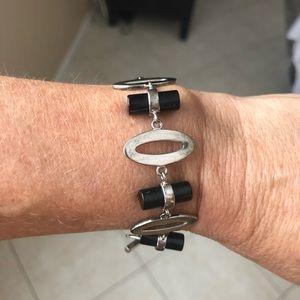 Simply NZ sterling onyx bracelet